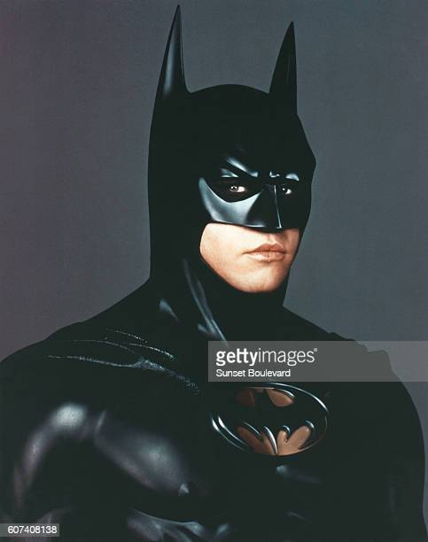 American actor Val Kilmer on the set of Batman Forever directed by Joel Schumacher