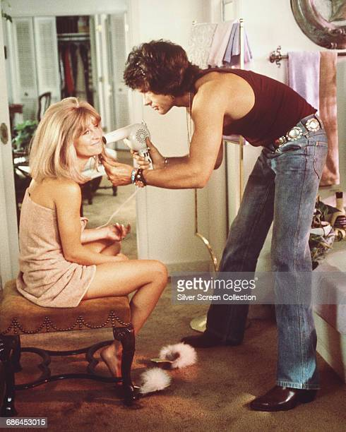 American actor Warren Beatty and English actress Julie Christie in a scene from the film 'Shampoo' 1975