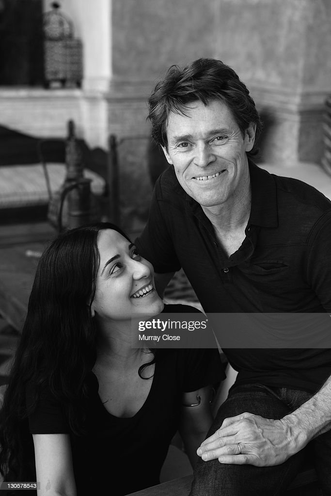 American actor <a gi-track='captionPersonalityLinkClicked' href=/galleries/search?phrase=Willem+Dafoe&family=editorial&specificpeople=203171 ng-click='$event.stopPropagation()'>Willem Dafoe</a> with his wife, actress and director <a gi-track='captionPersonalityLinkClicked' href=/galleries/search?phrase=Giada+Colagrande&family=editorial&specificpeople=614915 ng-click='$event.stopPropagation()'>Giada Colagrande</a>, circa 2005.