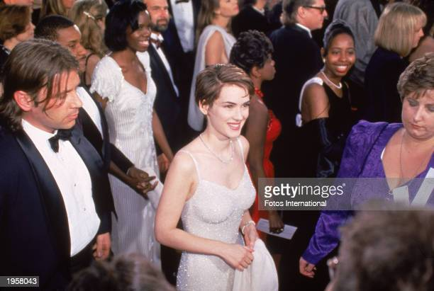 American actor Winona Ryder arrives for the Academy Awards Los Angeles California March 21 1994 Ryder was nominated for Best Supporting Actress for...