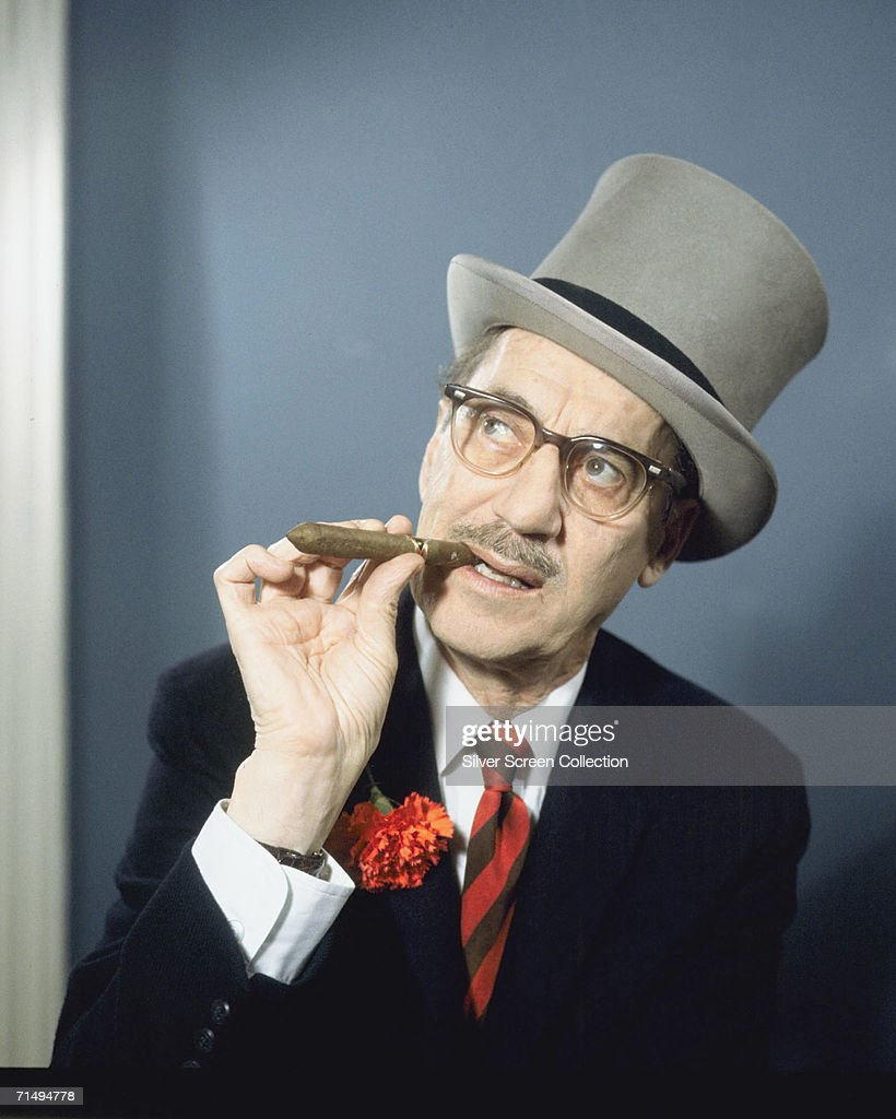 American actor, writer and comedian <a gi-track='captionPersonalityLinkClicked' href=/galleries/search?phrase=Groucho+Marx&family=editorial&specificpeople=206589 ng-click='$event.stopPropagation()'>Groucho Marx</a> (1890 - 1977), circa 1965.