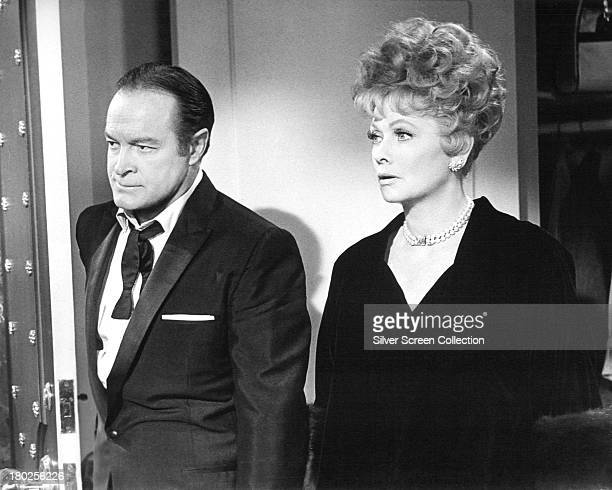 American actorcomedians Bob Hope as Larry Gilbert and Lucille Ball as Kitty Weaver in 'The Facts Of Life' directed by Melvin Frank and Norman Panama...
