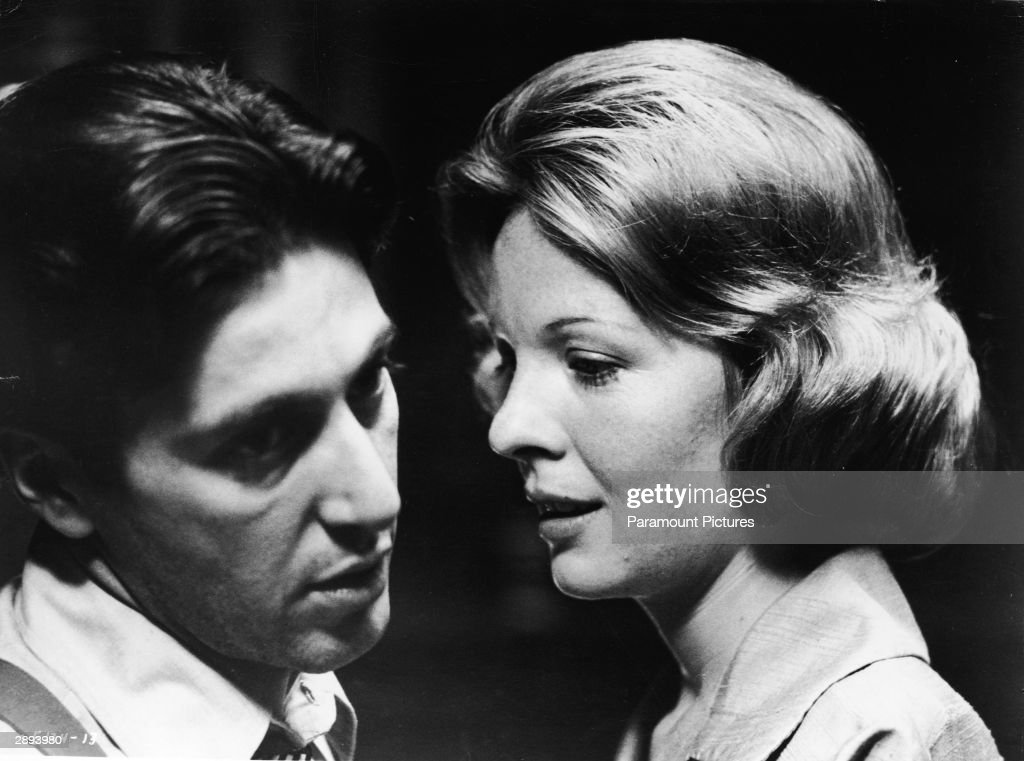 American actors Al Pacino and Diane Keaton in a scene from 'The Godfather,' directed by Fancis Ford Coppola, 1972.