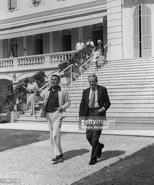 American actors and dancers Gene Kelly and Fred Astaire attend the Cannes International Film Festival 17th May 1976 They are there to present the...