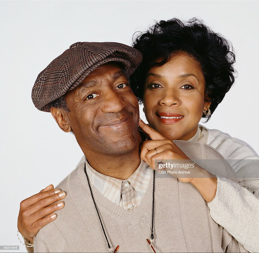 American actors <a gi-track='captionPersonalityLinkClicked' href=/galleries/search?phrase=Bill+Cosby&family=editorial&specificpeople=206281 ng-click='$event.stopPropagation()'>Bill Cosby</a> and <a gi-track='captionPersonalityLinkClicked' href=/galleries/search?phrase=Phylicia+Rashad&family=editorial&specificpeople=206924 ng-click='$event.stopPropagation()'>Phylicia Rashad</a> pose in character for a promotional photograph for the CBS sitcom 'Cosby,' June 17, 1996.