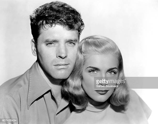 American actors Burt Lancaster and Lizabeth Scott on the set of Desert Fury based on the novel by Ramona Stewart and drected by Lewis Allen