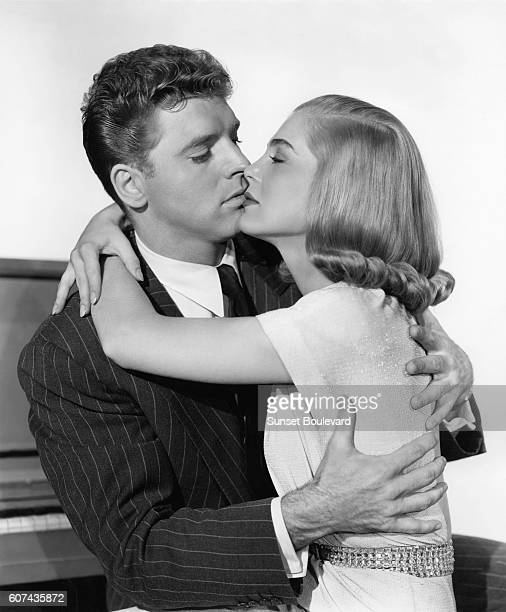 American actors Burt Lancaster and Lizabeth Scott on the set of I Walk Alone directed by Byron Haskin
