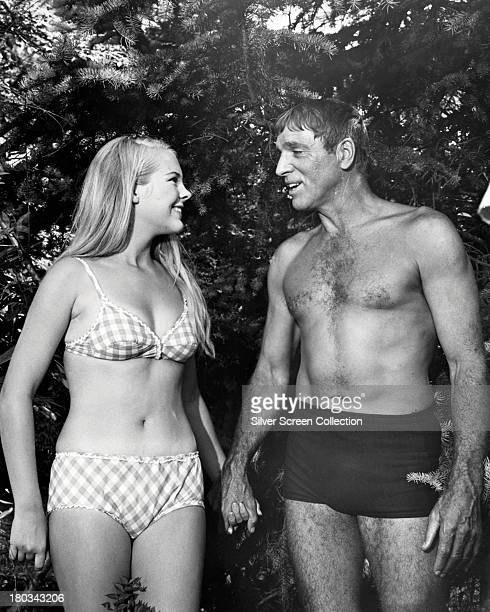 American actors Burt Lancaster as Ned Merrill and Janet Landgard as Julie Ann Hooper in 'The Swimmer' directed by Frank Perry 1968