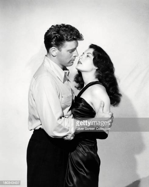 American actors Burt Lancaster as Ole 'Swede' Andreson and Ava Gardner as Kitty Collins in a promotional portrait for 'The Killers' directed by...