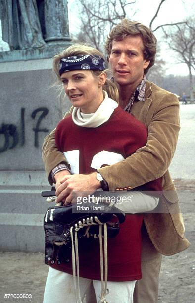American actors Candice Bergen and Ryan O'Neal in the film 'Oliver's Story' New York 1978