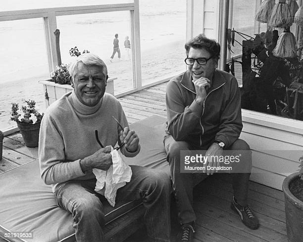 American actors Cary Grant and Burt Lancaster circa 1980