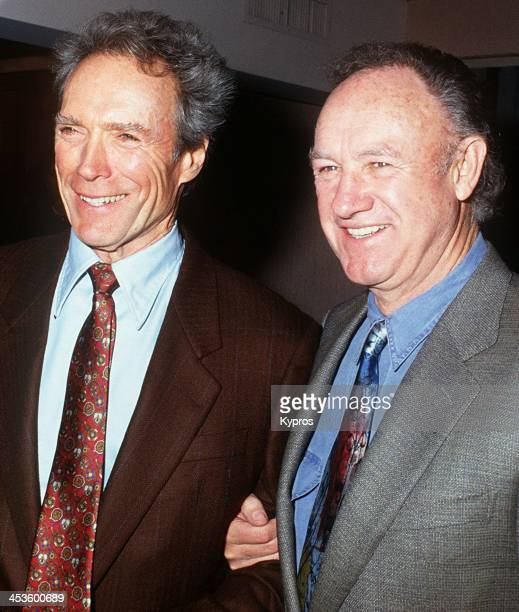 American actors Clint Eastwood and Gene Hackman at the 18th Annual LA Film Critics Association Awards at the Bel Age Hotel in Hollywood California...