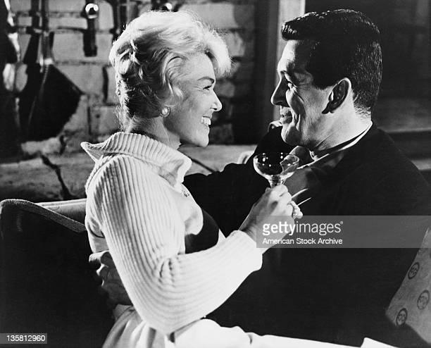 American actors Doris Day and Rock Hudson star in the Universal International film 'Pillow Talk' 1959