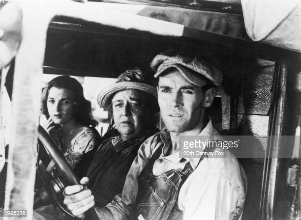 Dorris Bowdon Jane Darwell and Henry Fonda in a truck in a still from the film 'The Grapes of Wrath' directed by John Ford 1940