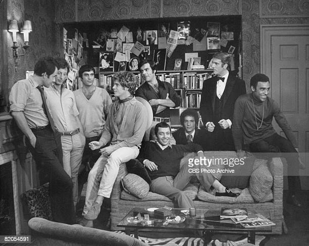American actors from left Laurence Luckinbill Frederick Combs Cliff Gorman Robert La Tourneaux Keith Prentice Kenneth Nelson Leonard Frey Peter White...