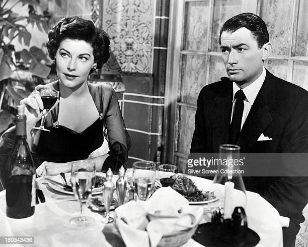 American actors Gregory Peck as Harry Street and Ava Gardner as Cynthia Green in 'The Snows Of Kilimanjaro' directed by Henry King 1952