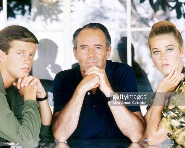 American actors Henry Fonda his son Peter Fonda and daughter Jane Fonda circa 1963
