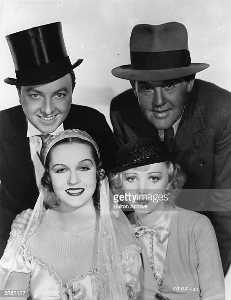 American actors Jack Haley Sidney Toler Patricia Ellis and Isabel Jewell star in the comedy caper 'Here Comes The Groom' directed by Edward Sedgwick...