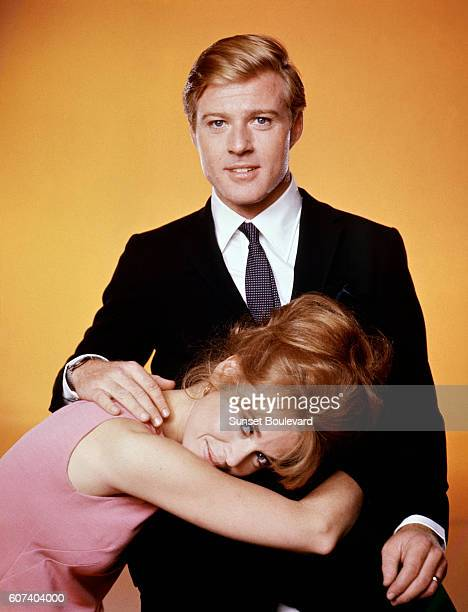 American actors Jane Fonda and Robert Redford on the set of Barefoot in the Park directed by Gene Saks
