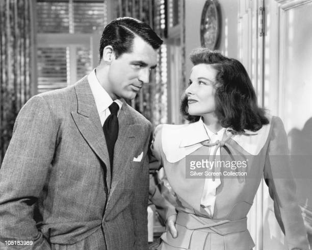 American actors Katharine Hepburn and Cary Grant star in the film 'The Philadelphia Story' 1940