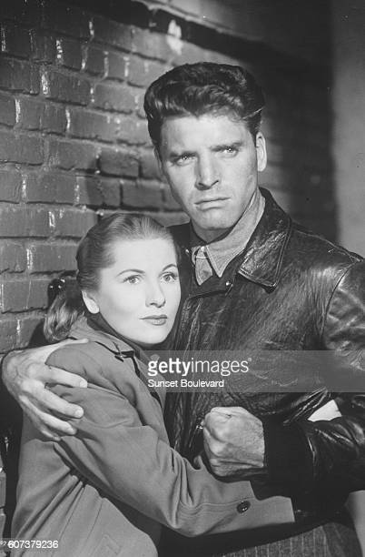American actors Lizabeth Scott and Burt Lancaster on the set of Desert Fury based on the novel by Ramona Stewart and drected by Lewis Allen