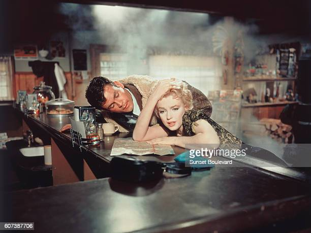 American actors Marilyn Monroe and Don Murray on the set of Bus Stop directed by Joshua Logan