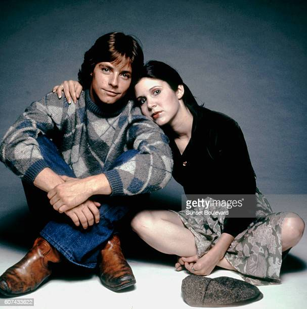 American actors Mark Hamill and Carrie Fisher on the set of Star Wars written directed and produced by George Lucas