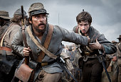 American actors Matthew McConaughey and Jacob Lofland filming 'Free State of Jones' in Louisiana USA 3rd March 2015 The film is based on the life of...