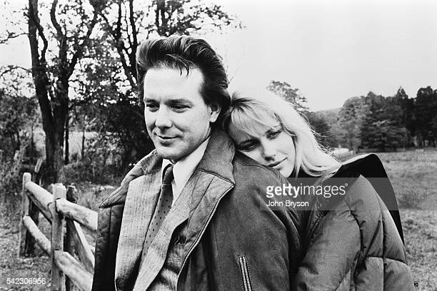 American actors Mickey Rourke and Daryl Hannah on the set of The Pope of Greenwich Village directed by Stuart Rosenberg