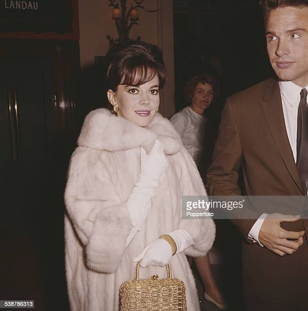 American actors Natalie Wood and Warren Beatty who appear together in the film 'Splendor in the Grass' pictured together at the Cannes Film Festival...
