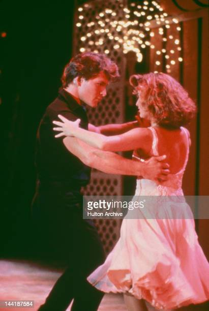 American actors Patrick Swayze and Jennifer Grey star in the film 'Dirty Dancing' 1987