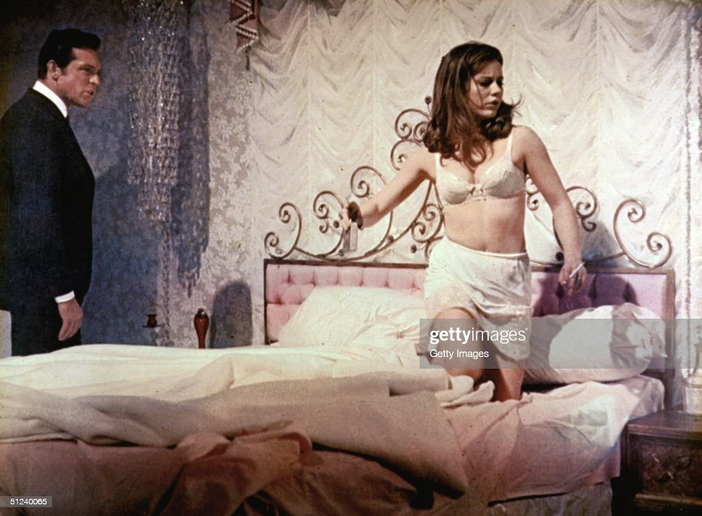 1967 American actors Patty Duke and Paul Burke in a still from the film 'Valley of the Dolls' based on the bestseller by Jacqueline Susann Duke wears...