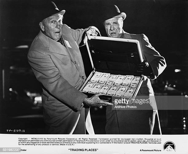 American actors Ralph Bellamy and Don Ameche as Randolph and Mortimer Duke in a scene from 'Trading Places' directed by John Landis 1983