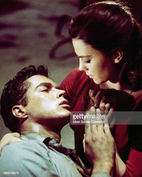 American actors Richard Beymer as Tony and Natalie Wood as Maria in 'West Side Story' directed by Robert Wise and Jerome Robbins 1961