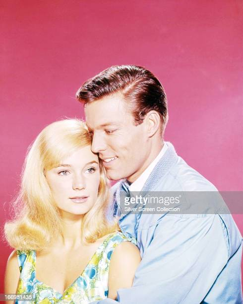 American actors Richard Chamberlain and Yvette Mimieux in a promotional portrait for 'Joy In the Morning' directed by Alex Segal 1965