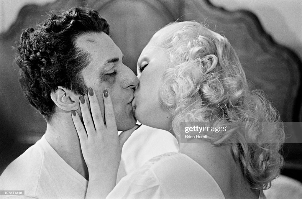American actors Robert De Niro, as boxer Jake La Motta, and Cathy Moriarty, as Vickie La Motta, in a scene from the Martin Scorsese-directed film 'Raging Bull,' 1980.