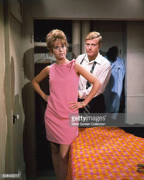 American actors Robert Redford and Jane Fonda as Paul and Corie Bratter in 'Barefoot In The Park' directed by Gene Saks 1967