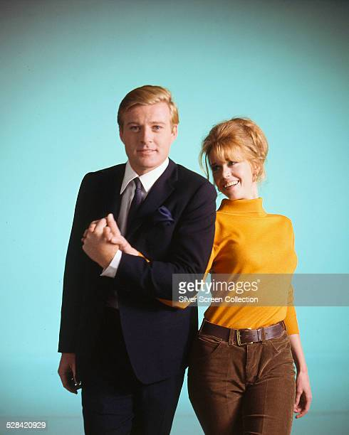 American actors Robert Redford and Jane Fonda in a promotional portrait for 'Barefoot In The Park' directed by Gene Saks 1967