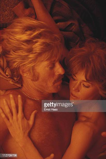 American actors Robert Redford and Jane Fonda on the set of the film 'The Electric Horseman' USA March 1979