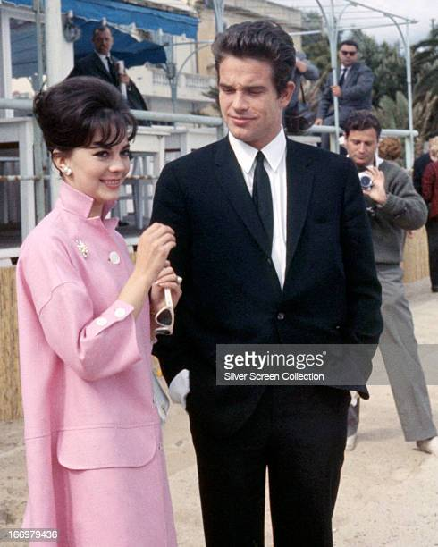 American actors Warren Beatty and Natalie Wood at the Cannes Film Festival France 14th May 1962