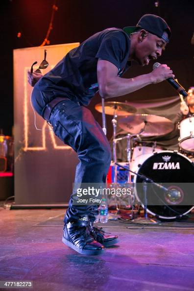 American actor/singer Malcolm David Kelley of MKTO performs live onstage at Egyptian Room at Old National Centre on February 16 2014 in Indianapolis...