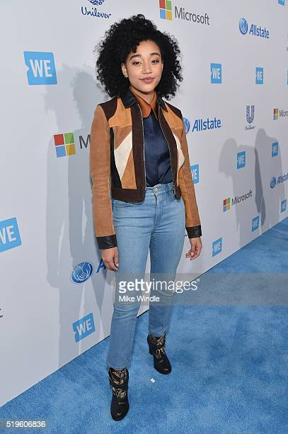 American actress activist and artist Amandla Stenberg attends WE Day California 2016 at The Forum on April 7 2016 in Inglewood California