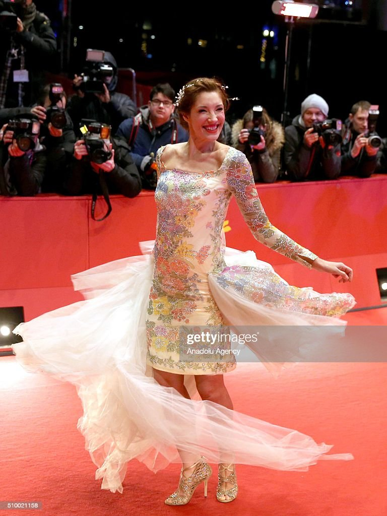 American actress Alexandra Anthony attends the 'Things to Come' (L'avenir) premiere during the 66th Berlinale International Film Festival Berlin at Berlinale Palace on February 13, 2016 in Berlin, Germany.