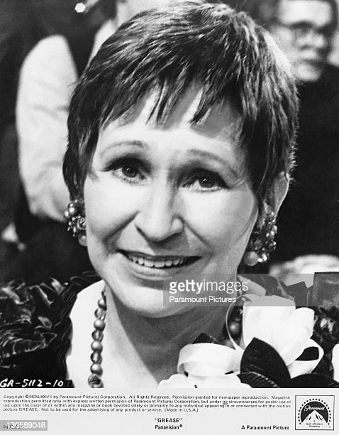 American actress Alice Ghostley as automotive repair shop teacher Mrs Murdock in the Paramount musical 'Grease' 1978