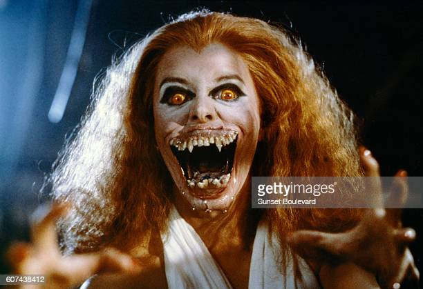 American actress Amanda Bearse on the set of Fright Night written and directed by Tom Holland
