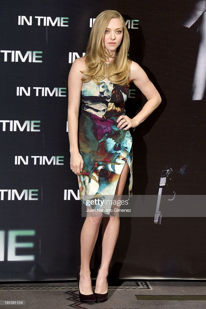 American actress Amanda Seyfried attends 'In Time' photocall at Villa Magna Hotel on November 3, 2011 in Madrid, Spain.