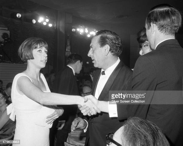American actress and comedian Carol Burnett and American actor Jack Klugman at the 18th Emmy Awards at the Hollywood Palladium Los Angeles 22nd May...