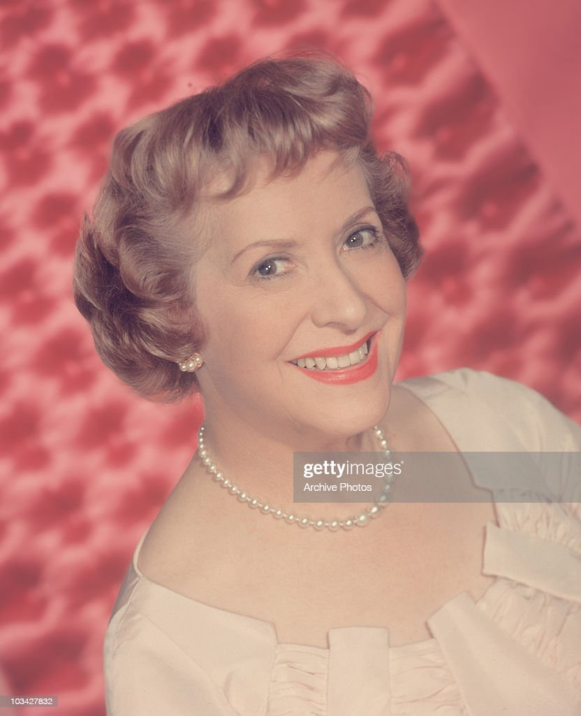 American actress and comedien Gracie Allen poses circa 1955