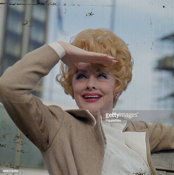 American actress and comedienne Lucille Ball posed in London in 1967