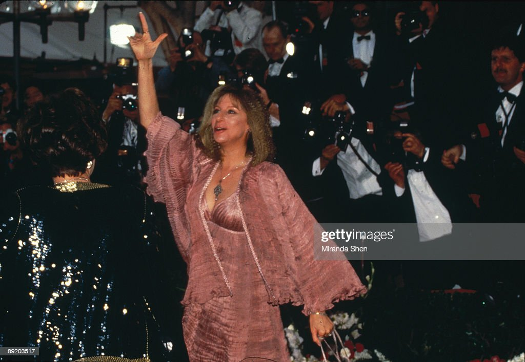 American actress and singer Barbra Streisand arrives at the 64th Annual Academy Awards, held at the Dorothy Chandler Pavilion, Los Angeles, 30th March 1992.